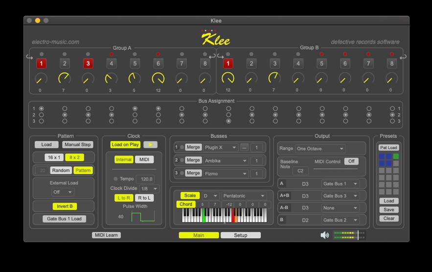 Klee software step sequencer