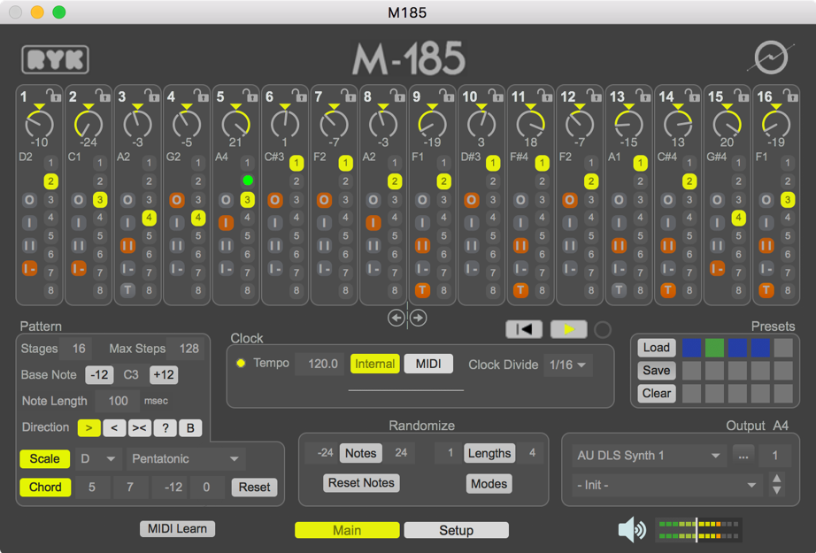M185 software step sequencer